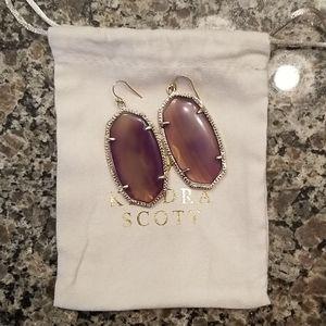 Purple Agate Kendra Scott Danielle Earrings
